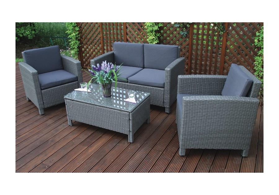 Meble Ogrodowe Rattanowe Producent : Meble ogrodowe BORNEO zestaw ogrodowy stół kanapa fotele